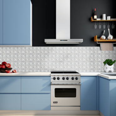 Kaleidescope Bianco Dolomite, Imperial White & A.Gray Marble Polished