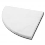 Milas White Corner Shelf