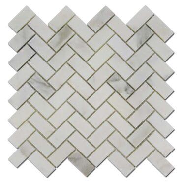 1″x2″ Herringbone Calacatta Marble Polished