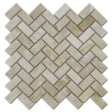 1″x2″ Herringbone Karya Royal Marble Polished