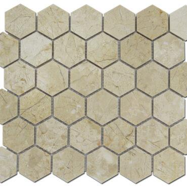 2″ Crema Nouva Honeycomb Marble Polished