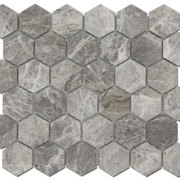 2″ Grigio Fantasia Honeycomb Marble Polished