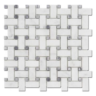 Basket Milas White & Gray Dot Marble Honed