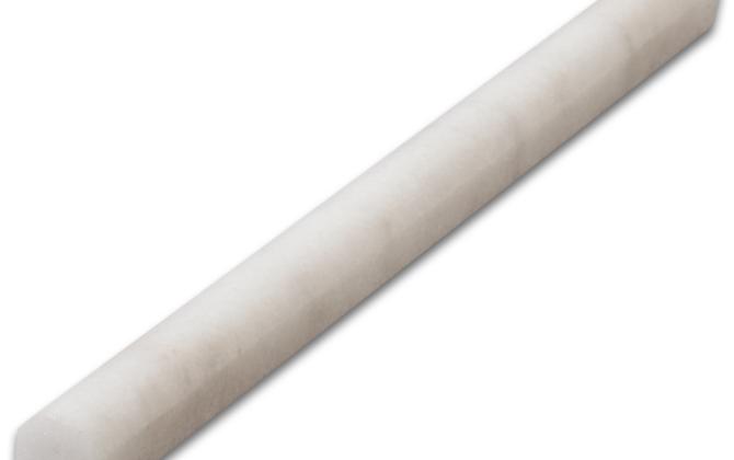 Milas White Marble Bullnose
