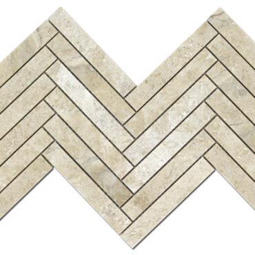 1″x6″ Herringbone Karya Royal Marble Polished