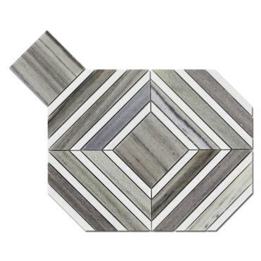 Palisandra & Binco Dolomite Maze Marble Polished