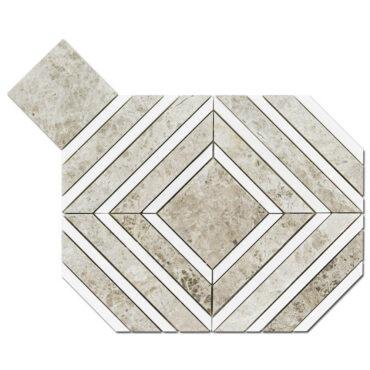 Silver Shadow & Bianco Dolomite Maze Marble Polished
