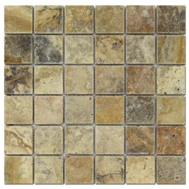 2″x2″ Scabos Travertine Tumbled